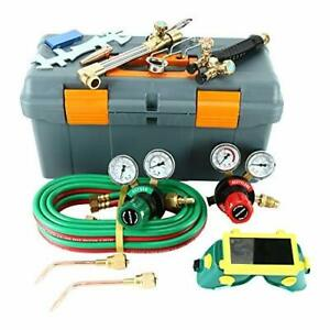 Victor Type Acetylene Oxygen Torch Regulator Set Gas Welding And Cutting Kit New