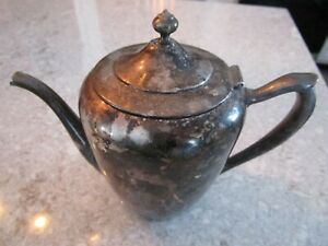 Antique Silver On Copper Water Pitcher By F B R Company