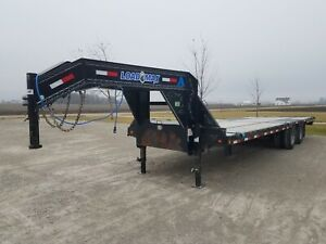 Gooseneck Flatbed Trailer Loadmax Loadtrail 28 x102 Straight Deck With Ramps