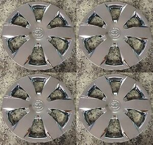 Set Of 4 Chrome 16 Hubcaps Wheelcovers Fits Toyota