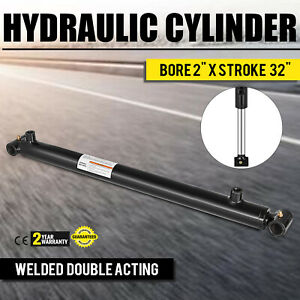 Hydraulic Cylinder 2 Bore 32 Stroke Double Acting Black Performance Sae 6