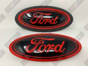 2015 20 Ford F150 Custom Grille tailgate Oval Gloss Race Red Pq gloss Black ua