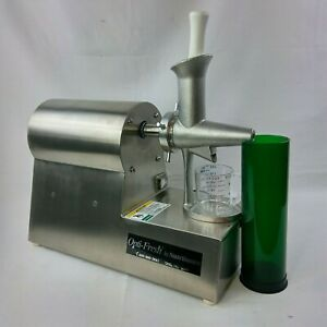 Commercial Wheatgrass Juicer Retail 1 300 Opti Fresh Nutrifaster Stainless 4s2
