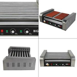 289 Sq In Stainless Steel Hot Dog Roller Grill Commercial Cooker Machine Big