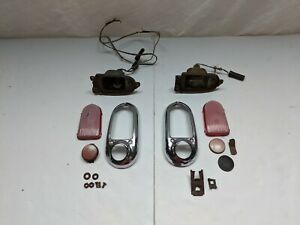 1949 Chevrolet Deluxe Sport Coupe Styleline Tail Lights Lamps Bezels Housings
