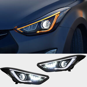 Led Headlights Assembly For Hyundai Elantra 2011 2016 Projector Drl Vland
