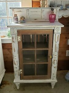 Reclaimed Shabby Bookcase Cabinet Hutch Vintage