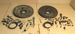 1966 Other Ford Mustang V8 R Lh Front Drum Brake Backing Plates Springs Bolts