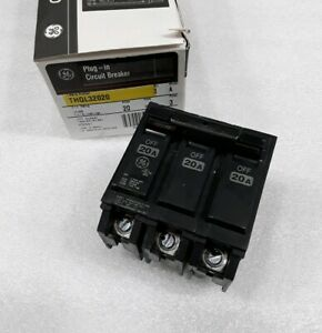 Thql32020 General Electric 3 Pole 30a 240vac Circuit Breaker New