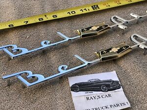 New Pair Of Replacement 1953 And 1954 Chevrolet Bel Air Side Trim