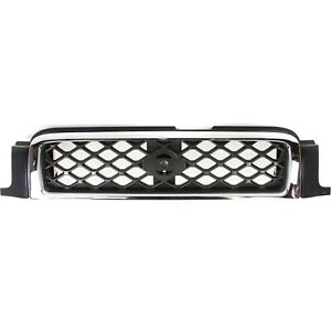For 1999 2001 Nissan Pathfinder Se Front Bumper Grille Gray W Chrome Molding New