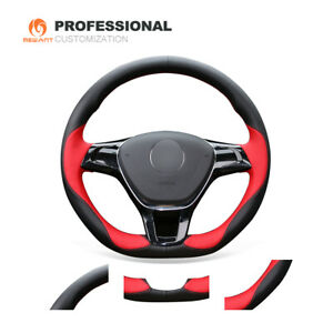 Pu Leather Steering Wheel Cover For Vw Golf 7 E Golf Jetta Arteon Atlas