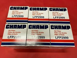 Case Of 6 Engine Oil Filter Diesel Turbo Champ Lfp2999 Ph9100 Made In Usa