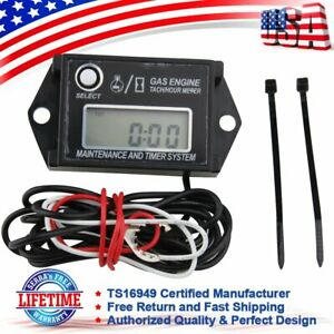 Digital Tachometer Hour Meter For 2 4 Stroke Spark Small Gas Engines Motors