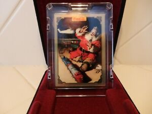 COCA COLA COLLECTION SEASON'S GREETINGS BY HADDON SUNDBLOM #004 GOLD CARD W/CASE