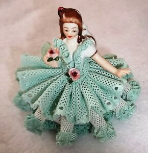 Original Dresden Lace Western Germany Princess Lady Figurine D And Crown Marked