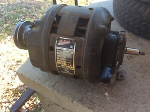 Antique Packard gm Electric Motor Double Shaft With Speed Pulley Lathe Etc