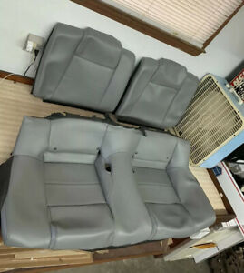 05 06 07 08 09 Ford Mustang Coupe Leather Rear Seat Covers Grey Gray Dove Oem