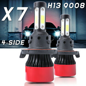 4 Sides H13 9008 Led Headlight Bulbs Hi Lo Beam 6000k For Ford F 150 F 250 F 350