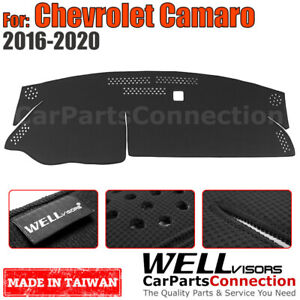 Wellvisors Dash Mat Dashboard Cover For Chevrolet 2016 2020 Camaro Black
