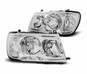 Headlights Lpto20 For Toyota Land Cruiser Fj100 1998 2004 Chrome Lhd