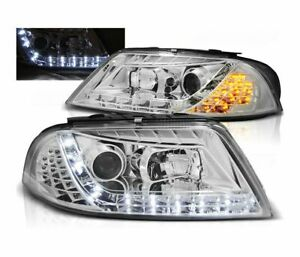 Headlights Lpvwc7 For Vw Passat 3bg B5 Fl 2000 2005 Daylight Chrome Lhd