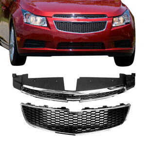 For Chevy Cruze 2011 2014 12 Front Bumper Upper Lower Grille Pair Set Of 2 Pcs