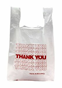 New 5000 Ct Plastic Shopping Bags T shirt Type Grocery White Small Size Bags