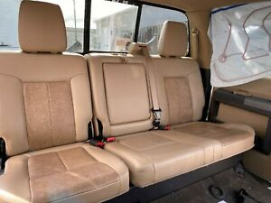 2011 Ford F250 Fx4 Super Duty Rear Lariat Leather Bench Seats