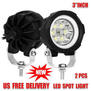 2x 3 Inch Spot Drl Led Work Light Round Fog Lamp Offroad Driving 4x4 Truck 60w