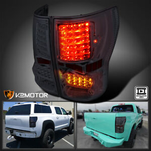 For 2007 2013 Toyota Tundra Smoke Lens Led Brake Tail Lights Lamps Left right
