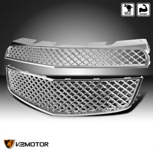 For 2010 2015 Chevy Equinox Upper Lower Chrome Mesh Front Hood Grille 10 15