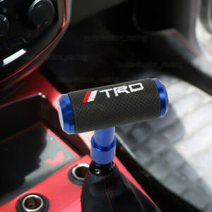 Trd Blue Leather Shift Knob Aircraft Joystick Mt At Transmission Racing Gear