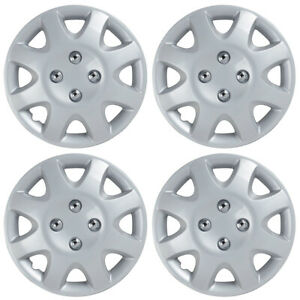 4 Pack Rim Wheel Covers Set 14 Silver Hubcaps Oem Replacement Abs Hub Caps