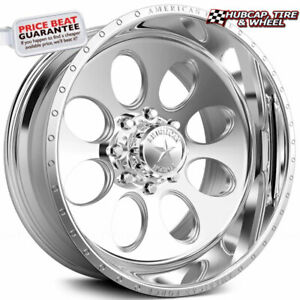 American Force Drive Ck15 Concave Polished 20 X12 Truck Wheel 8 Lug Set Of 4