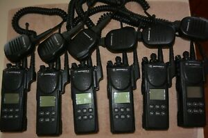 Lot Of 6 Motorola Xts3000 Uhf 403 470mhz 255ch With Encryption And Options