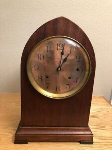 Hennegen Bates Seth Thomas Sonora Chime 4 Bell Beehive Clock Copper Dial Ca 1910