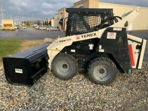 2012 Terex Tsv 50 Used Bobcat Skid Steer Loader Skidsteer Snow Pusher 952 Hrs
