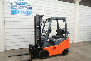 2015 Toyota 8fgcu15 3 000 Cushion Tire Forklift Lpg Fuel 3 Stage Ss Scale