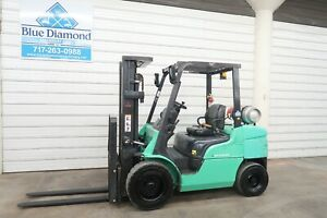 2014 Mitsubishi Fg30n 6 000 Pneumatic Tire Forklift 3 Stage Only 667 Hours