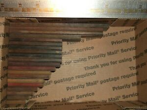 20pc Antique Lot Wood Type Fancy Shaded Ruling border Letterpress Printing Press
