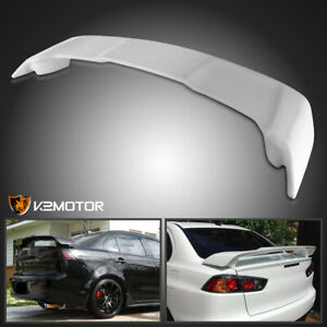 2008 2015 Mitsubishi Lancer Unpainted Abs Factory Style Rear Spoiler Wing