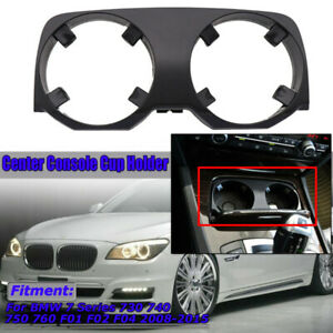 Car Center Console Cup Holders Outer Covers For Bmw 7 Series F01 F02 F04 2008 15