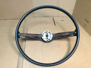 1968 1969 Other Ford Mustang 2 Spoke Steering Wheel Black W horn Contacts Oem