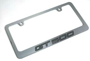 Chrome License Plate Frame For Mustang Shelby Gt500 Premium Engraved
