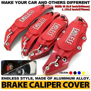 4pcs Disc Brake Caliper Abs Red 3d Endless Style Universal Car Truck Covers L m