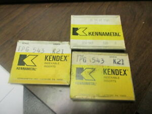 New Kennametal Carbide Inserts Style Tpg 543 Grade K21