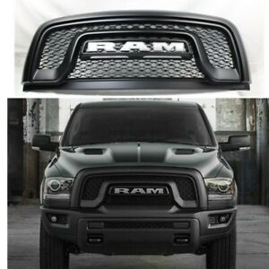 New Matte Black Grille Front Grill Fit For 2015 2018 Dodge Ram 1500 Rebel Pickup