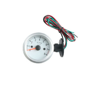 2 52mm 52mm Universal 0 8000rpm Blue Led Car Tachometer Tacho Gauge Meter