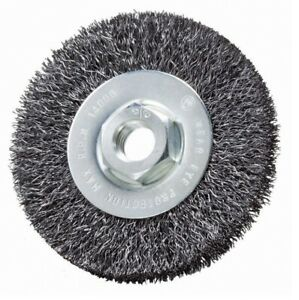 4 X 1 2 X 5 8 11 Crimped Wire Wheel Brush carbon Steel Deburring Wire Brush